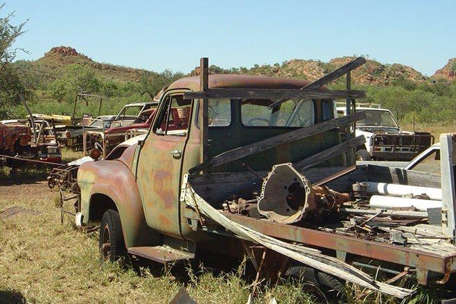 Custom 1968 J Series Bedford rear junkyard