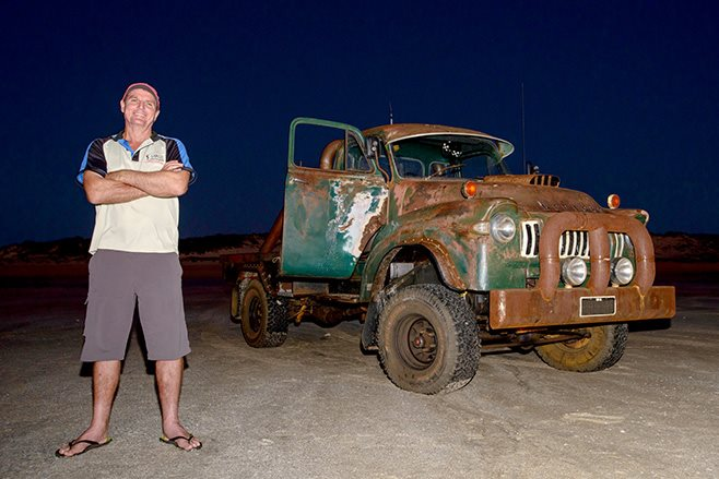 Rob with his Bedford