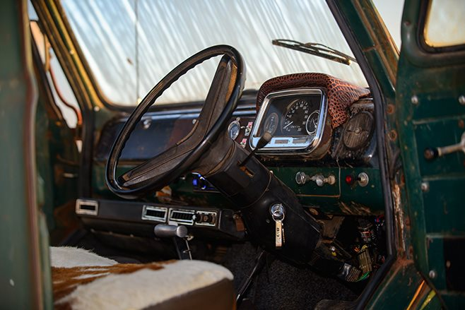 Custom 1968 J Series Bedford interior