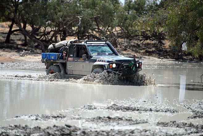 Custom GQ Patrol water crossing