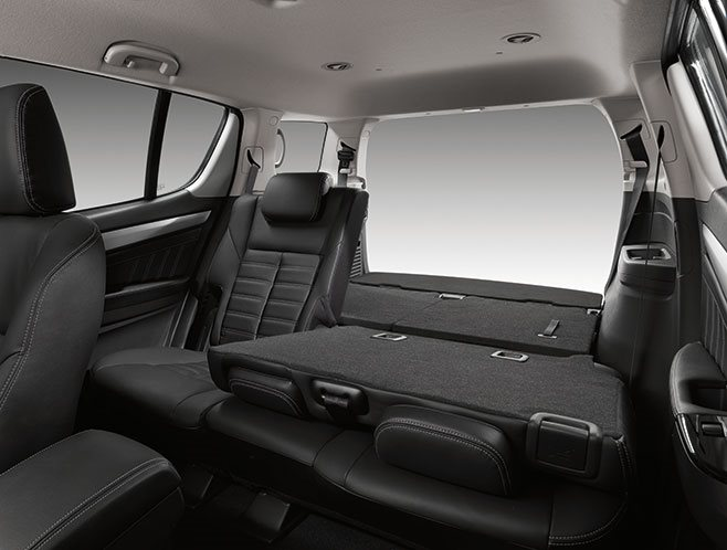 Isuzu MU-X rear seats