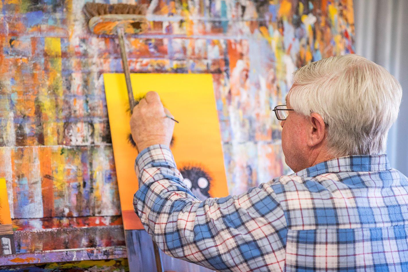 John Dynon painting
