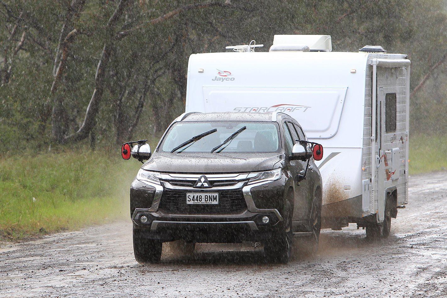 2017 Mitsubishi Pajero Sport Exceed in Rain