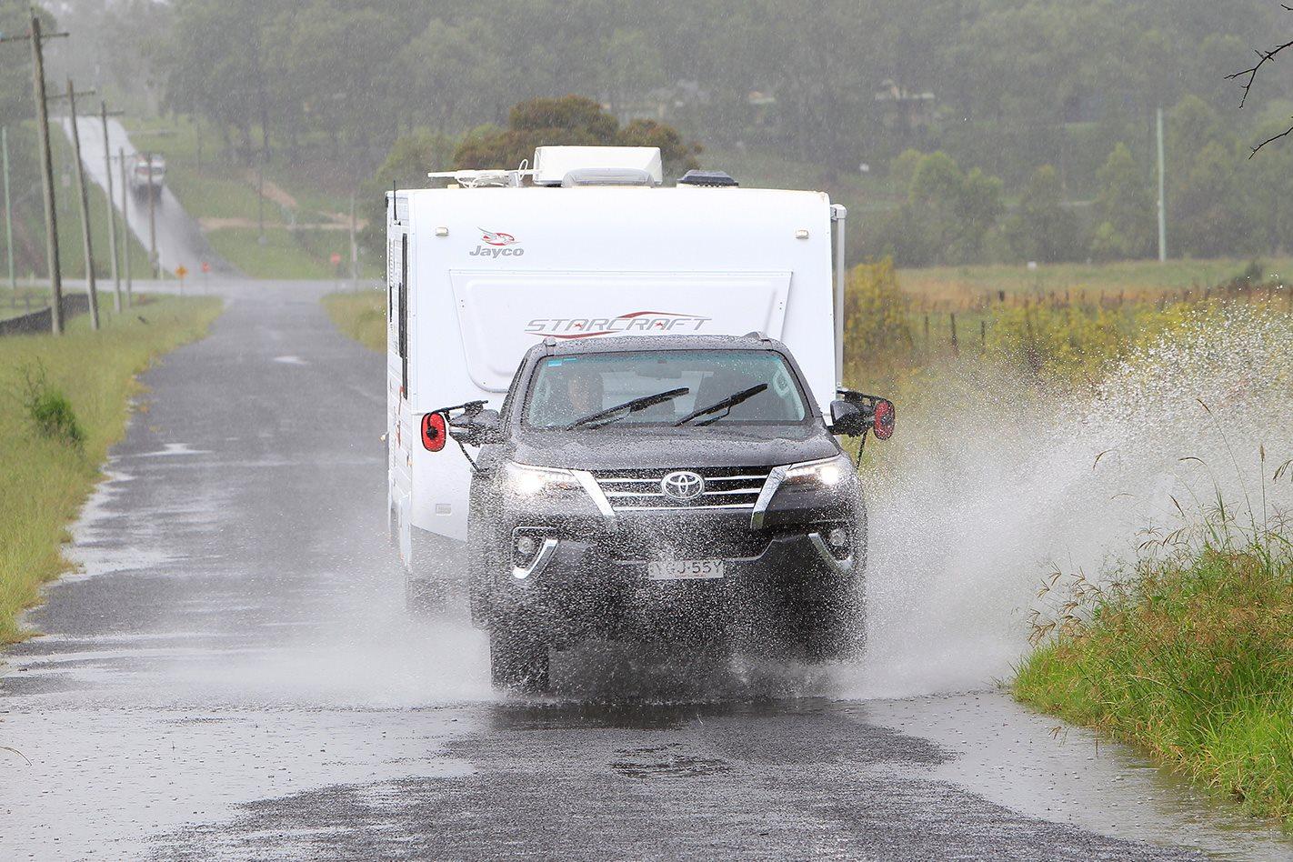 2017 Toyota Fortuner Crusade driving through rain