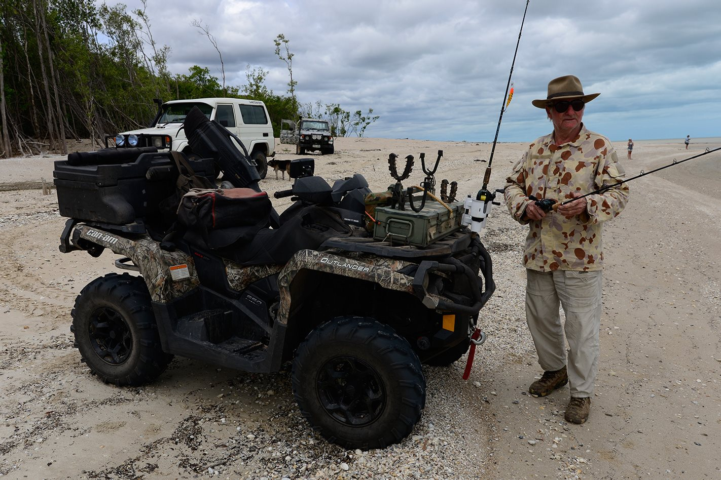 Can-am Outlander Fishing vehicle