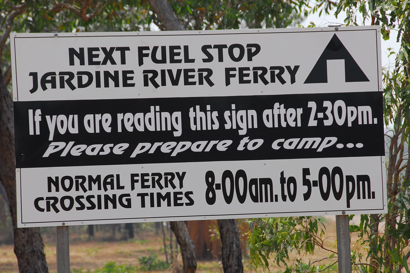 River Ferry sign