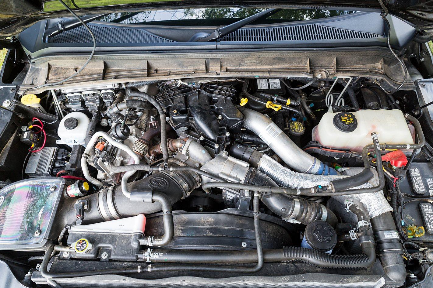 Custom 2017 Ford F250 Black Ops engine