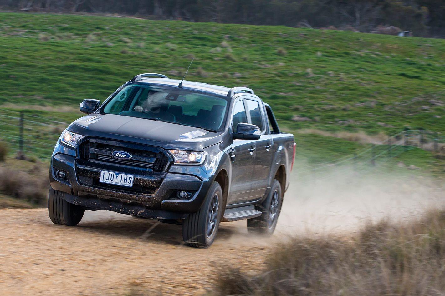 Ford Ranger FX4 on dirt road