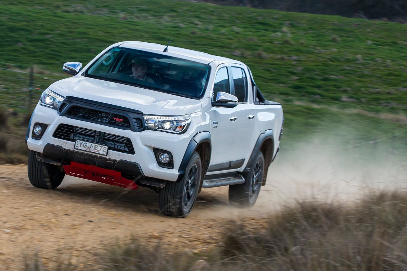 Toyota Hilux TRD on dirt road