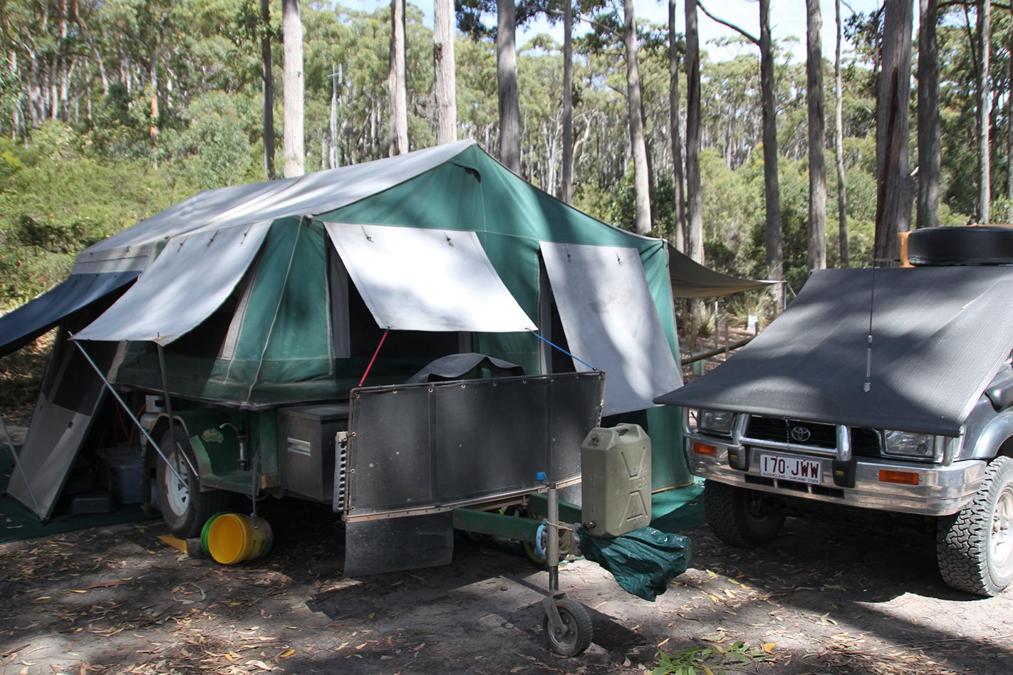 Camping in Warren National Park, WA
