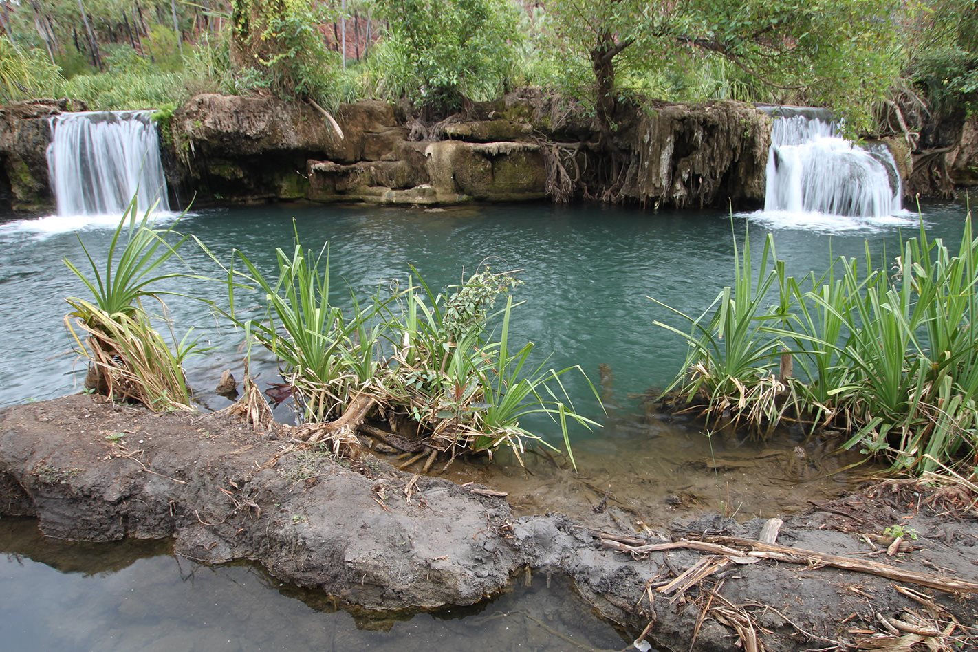 Waterfalls in Boojamulla Lawn Hill National Park QLD