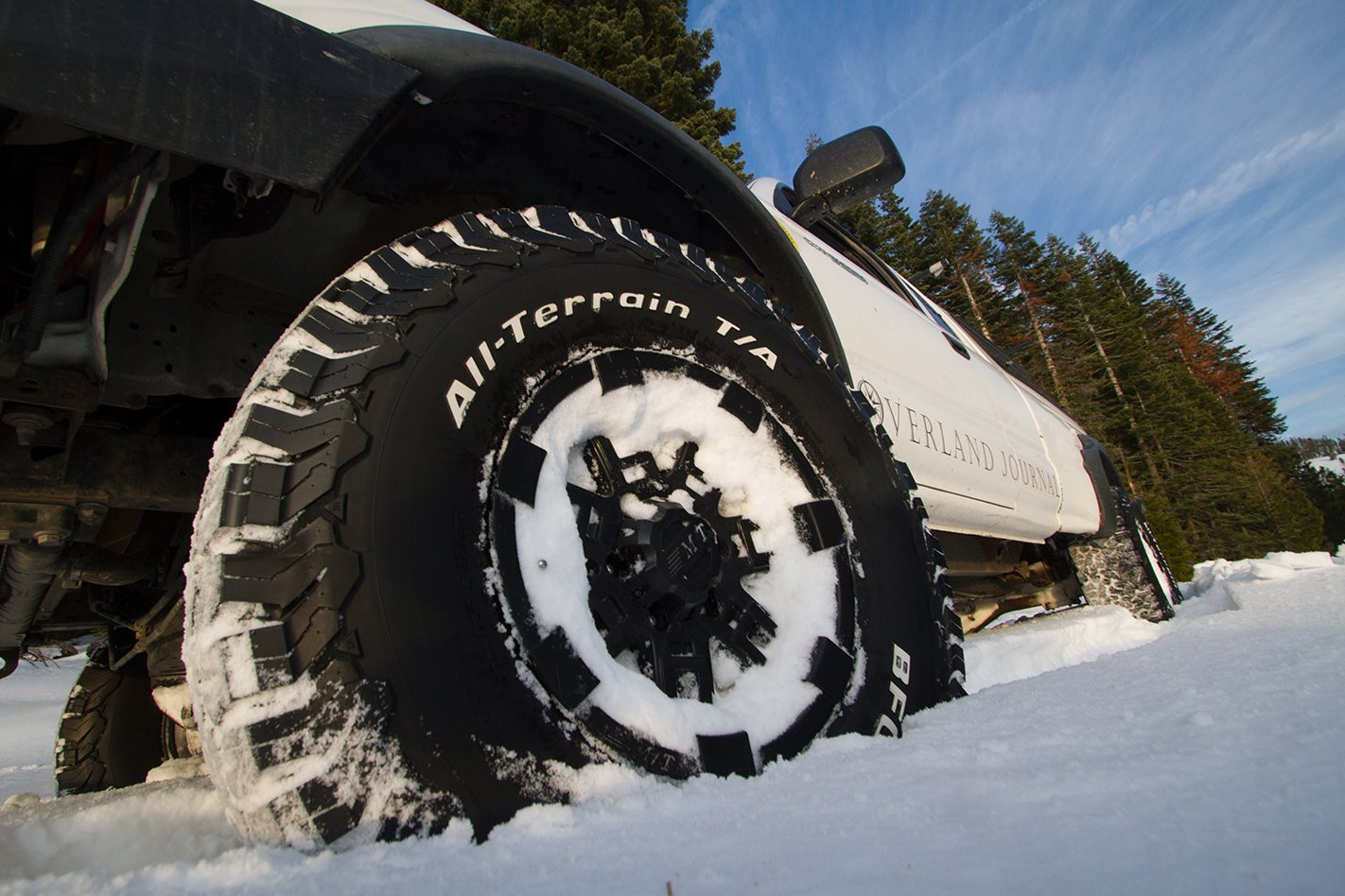 BFGoodrich All-Terrain KO2 tyres on snow