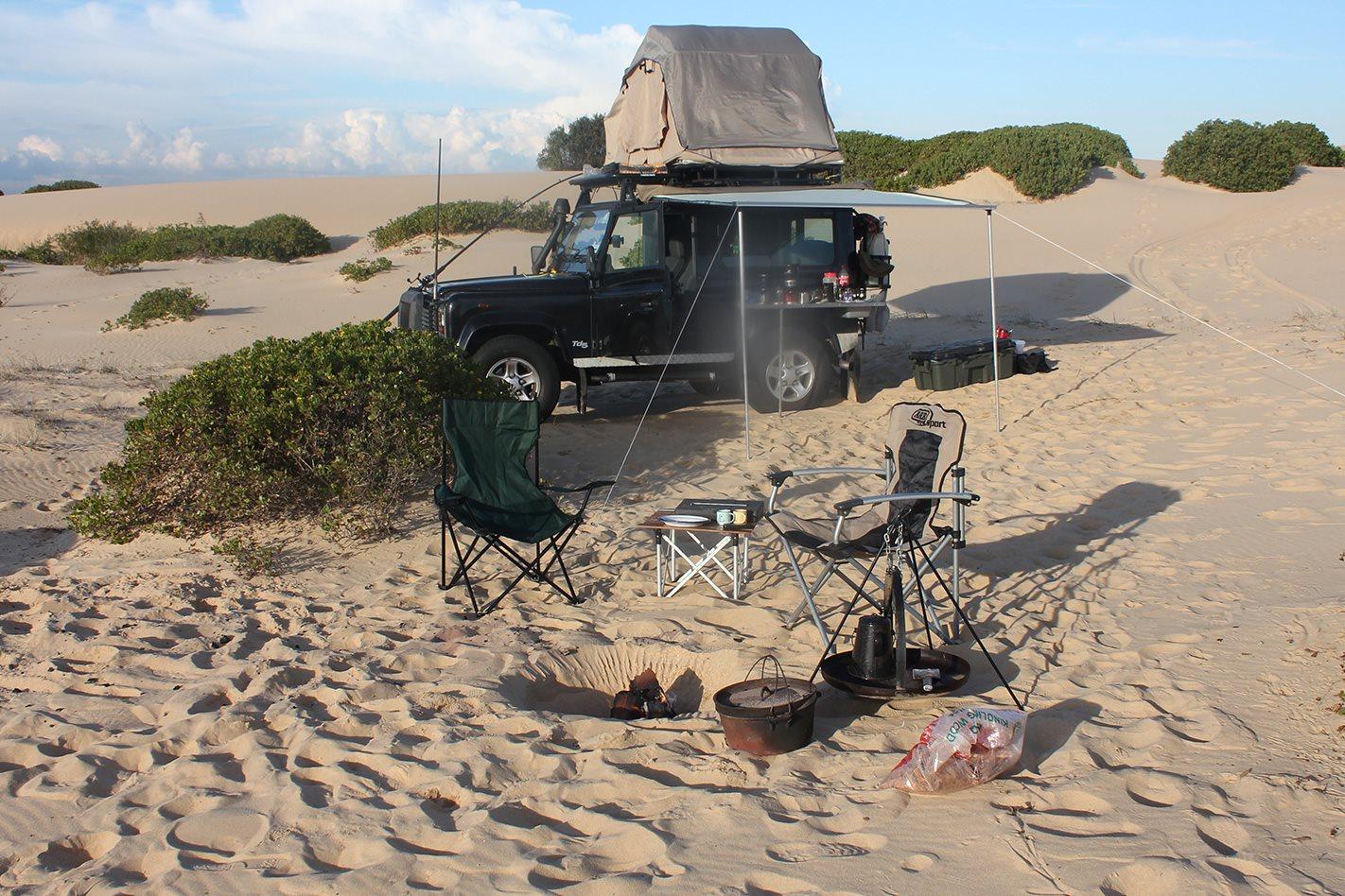 Camping on Stockton Beach
