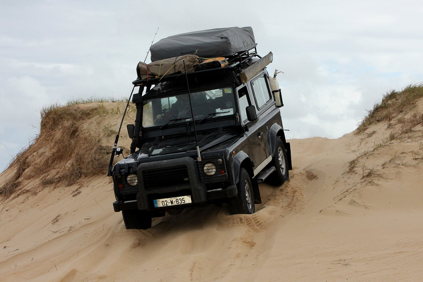 driving down Sand Dunes at Stockton Beach