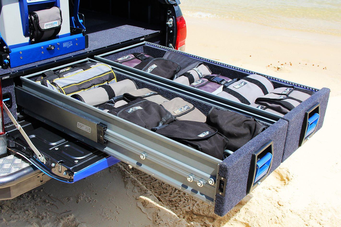 MSA 4X4 Accessories' Explorer Aluminium Drawer System
