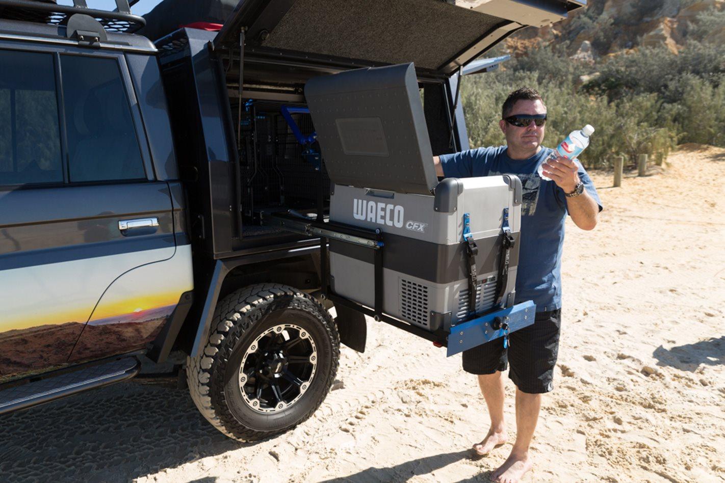 MSA 4X4 Accessories' Explorer Aluminium Drawer System with Waeco fridge