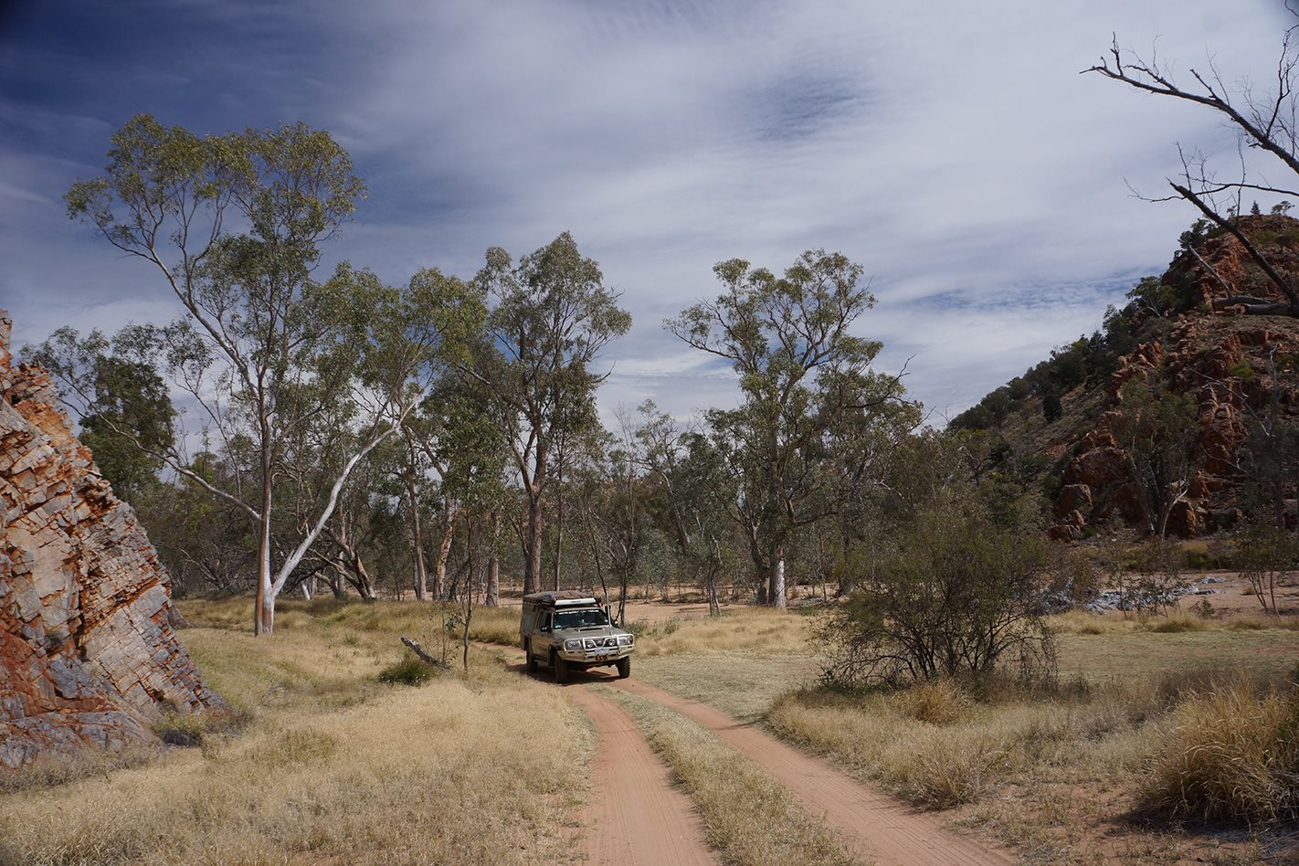 Owen Springs Reserve NT 4WD on track