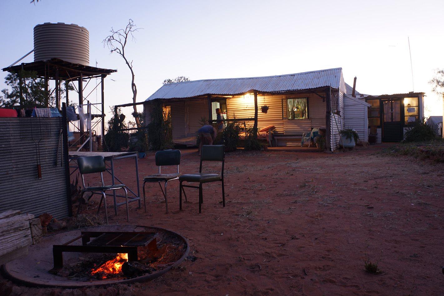 Old Andado Homestead NT at dusk
