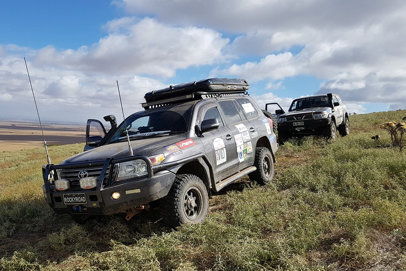 4WD's at Variety Bash Southern Flinders Range SA