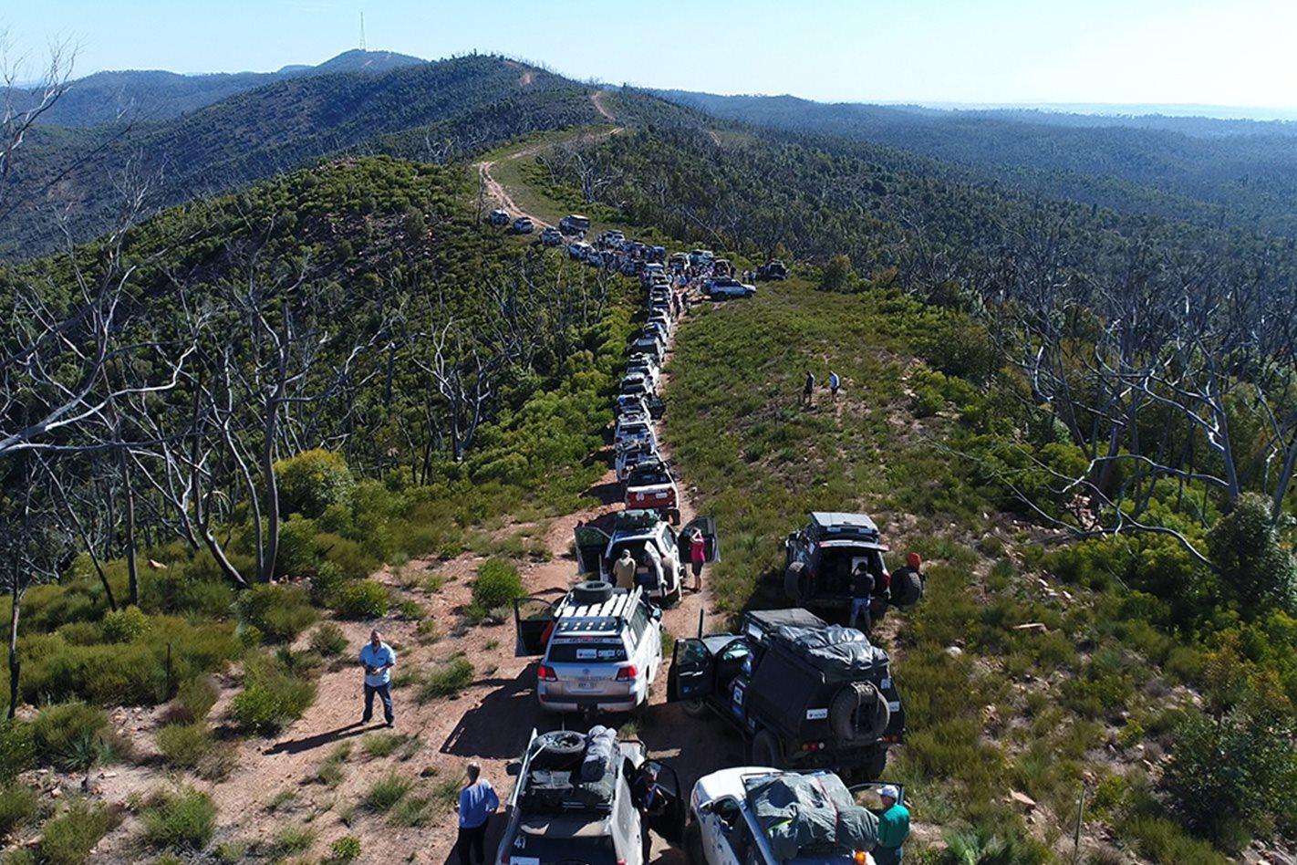 Aerial of Variety 4WD Bash Southern Flinders Range SA