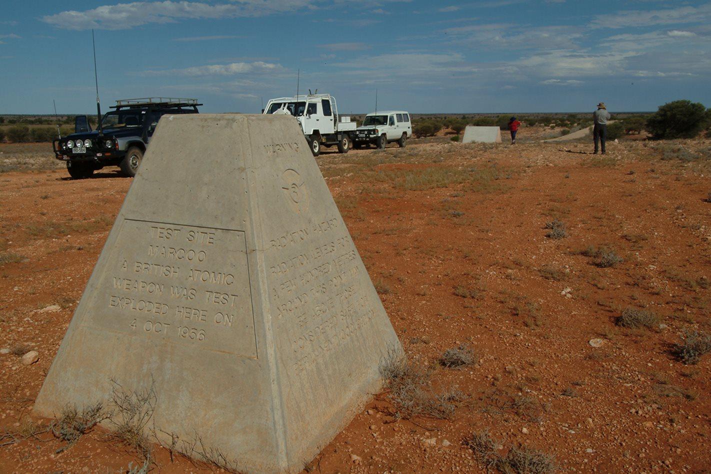 Attomic bomb testing site Maralinga