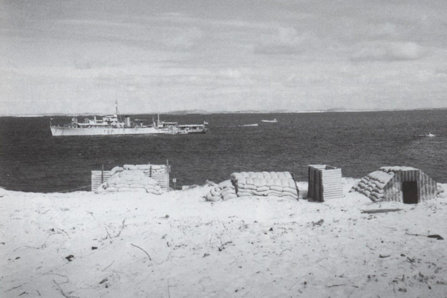 HMS Plym Trimouille Islands 1952