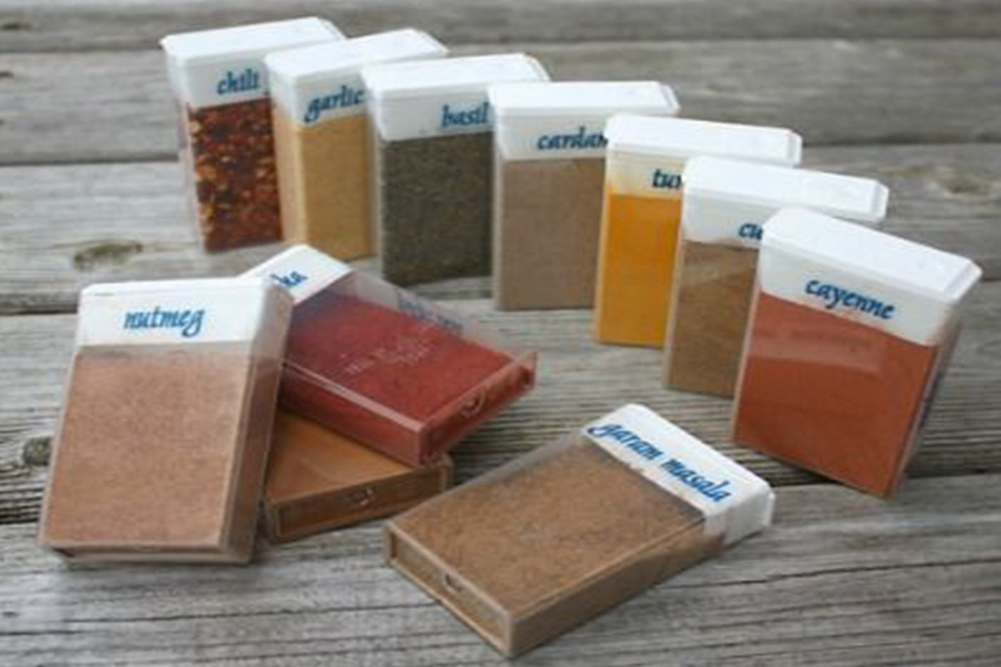 Camping sized travel spices