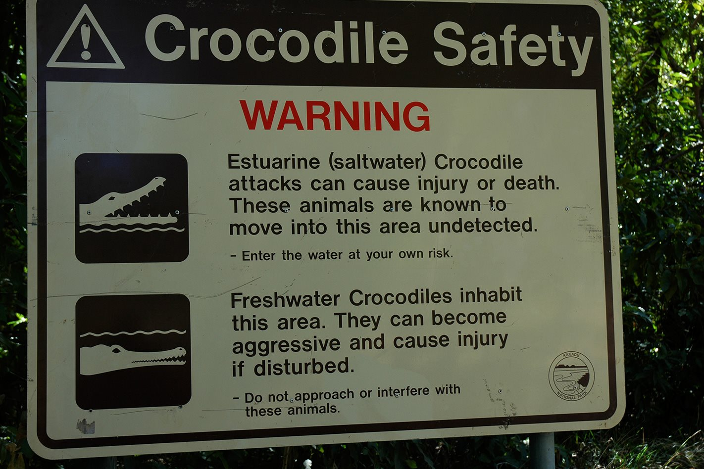 Kakadu Circuit NT Crocodile Warning