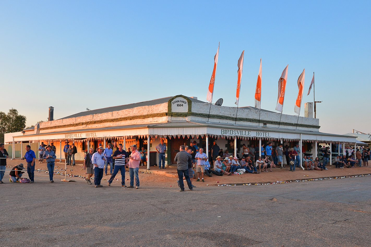 Birdsville Hotel during Birdsville Race
