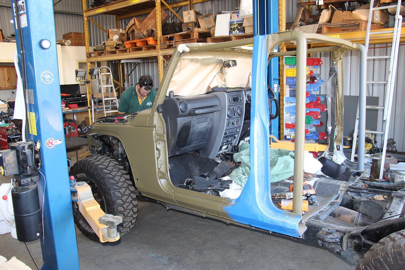 1960 Jeep JK Wrangler 715 replica chassis
