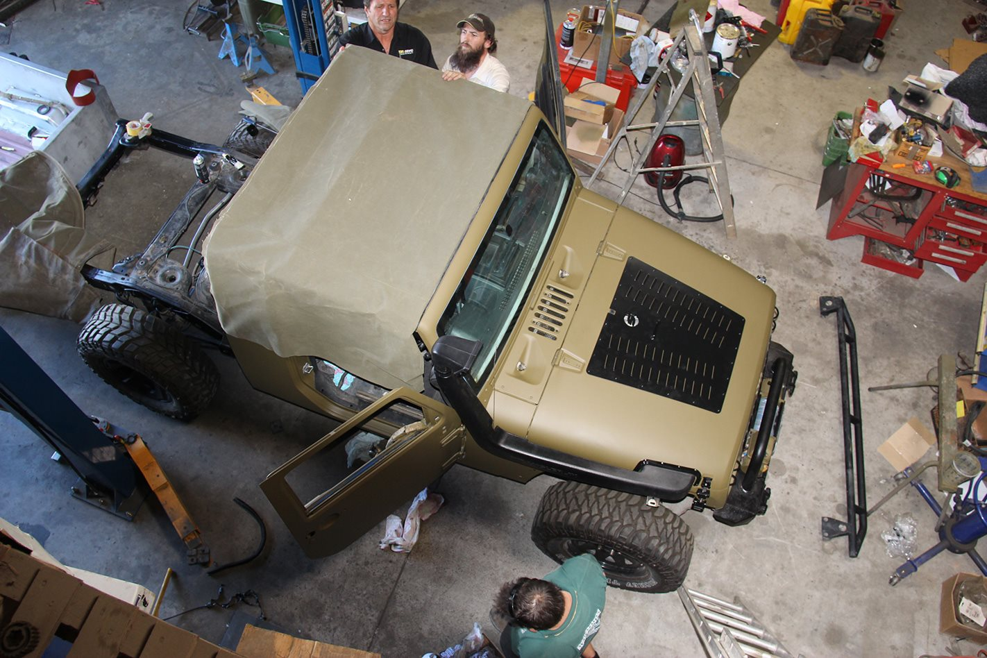 1960 Jeep JK Wrangler 715 replica rubber bonnet