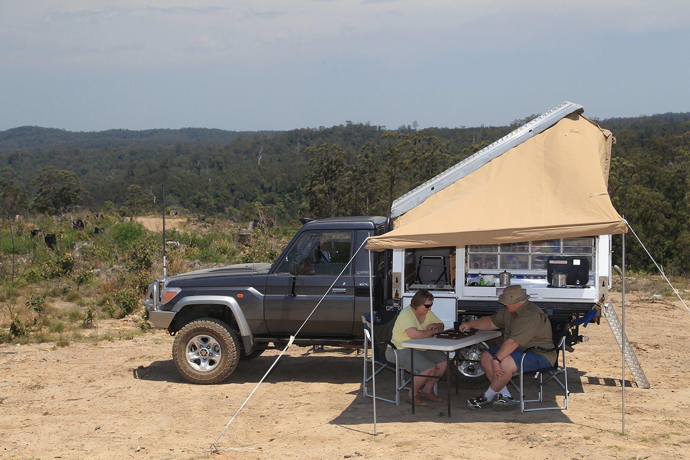 2011 Toyota 79 Series Land Cruiser GX custom tent
