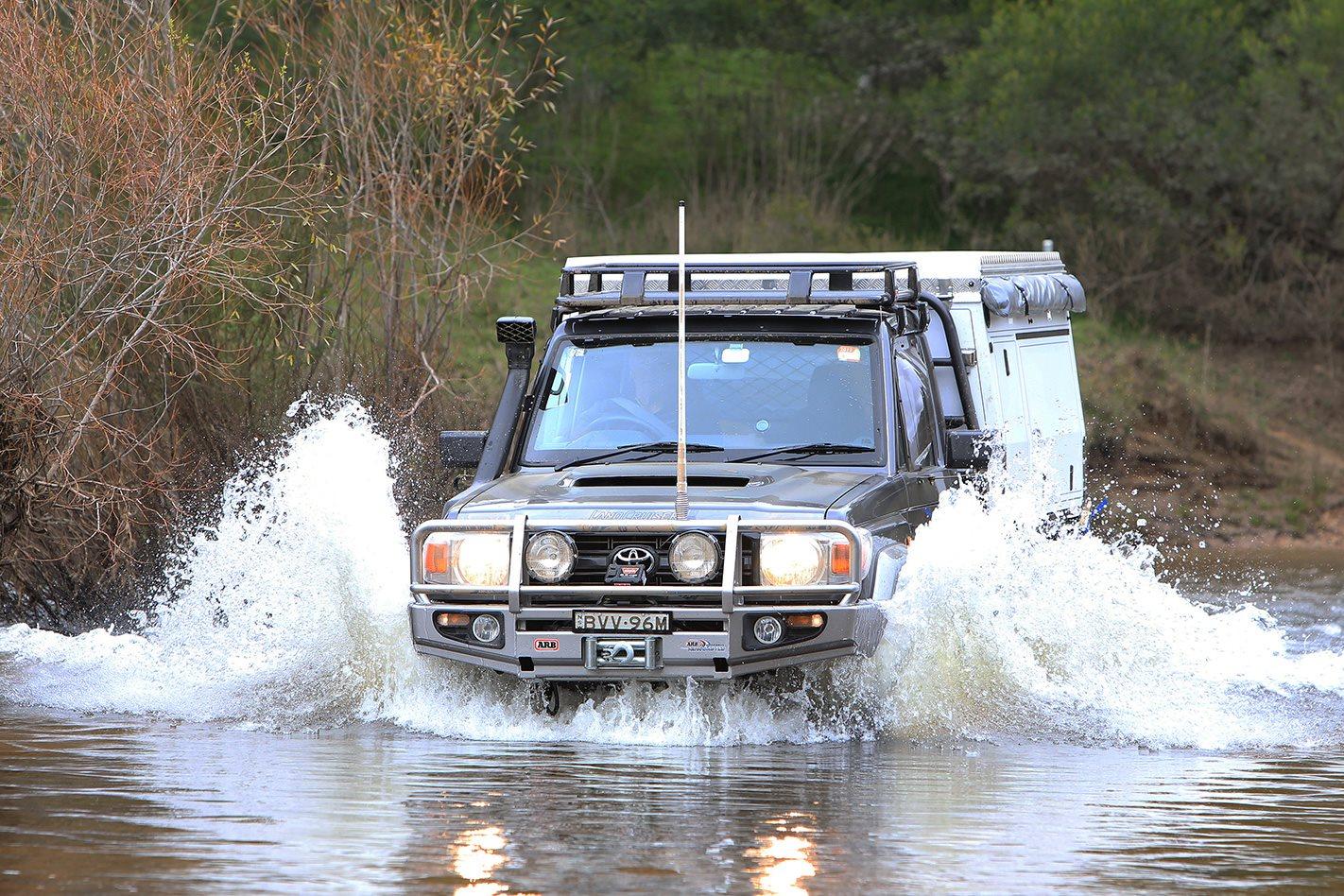 2011 Toyota 79 Series Land Cruiser GX custom water crossing