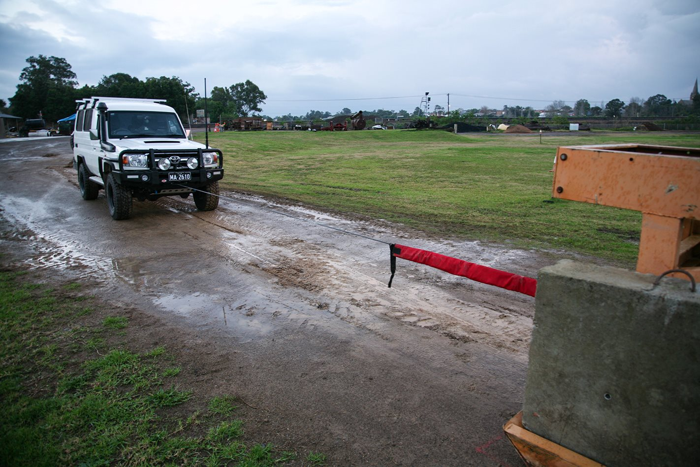 winch recovery testing on Toyota Land Cruiser