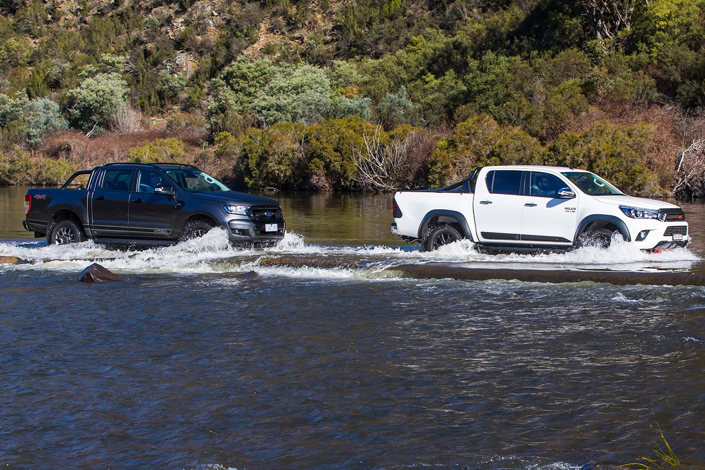 Toyota Hilux TRD & Ford Ranger FX4 offroad
