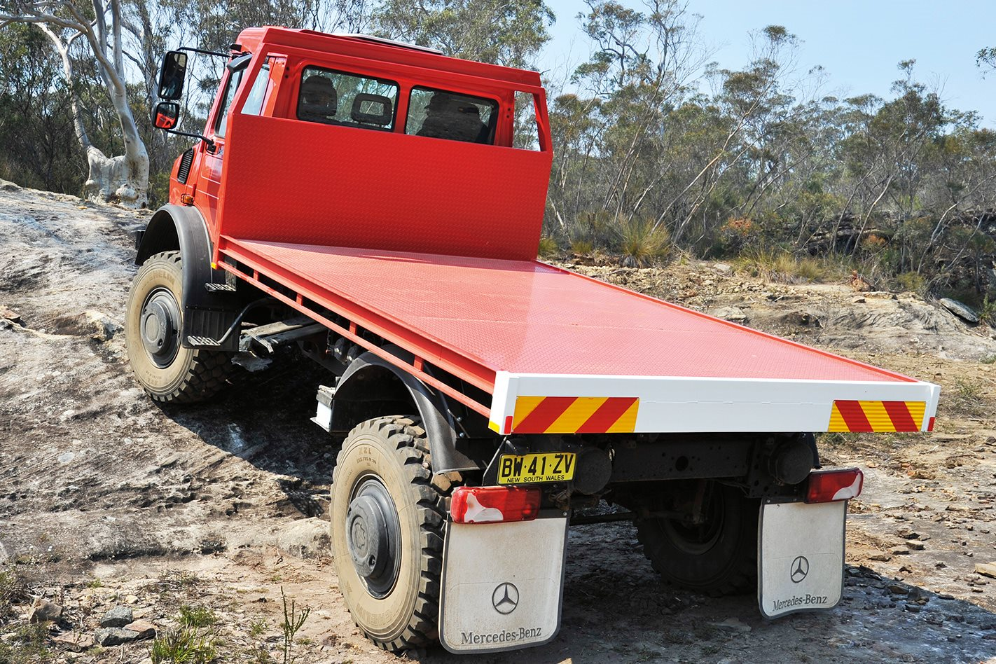 Mercedes Benz Unimog U5000 rear