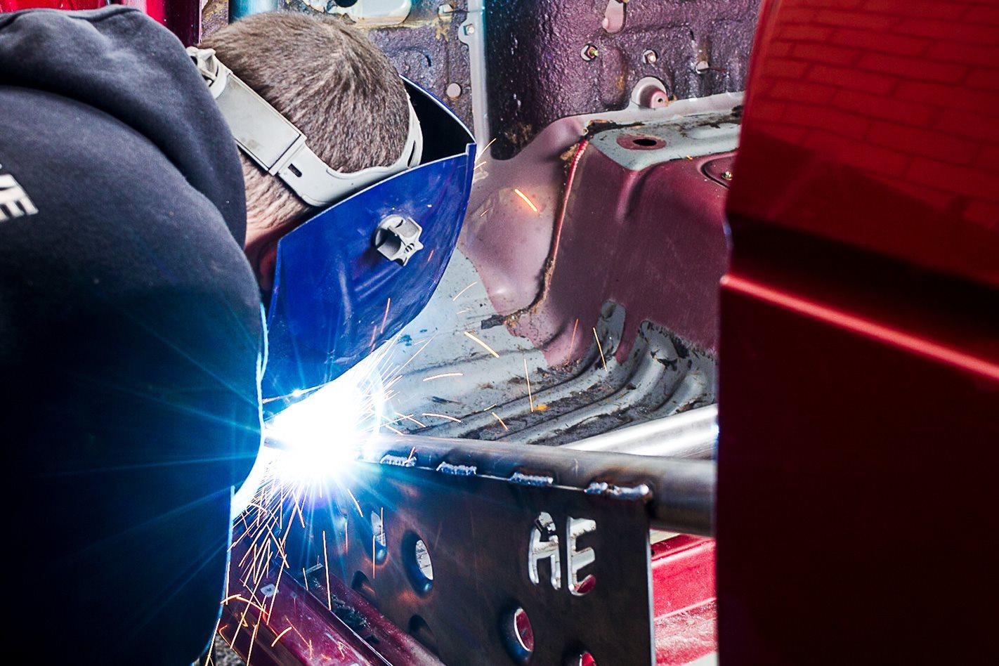 welding Toyota Land Cruiser 60 Series cage.jpg
