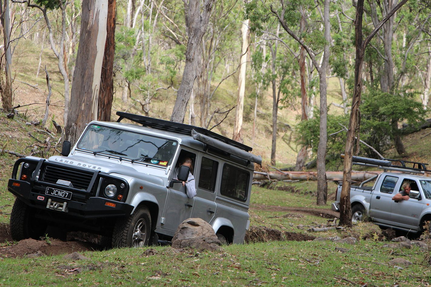 Land Rover offroading Janowen Hills Camping & 4WD Park QLD