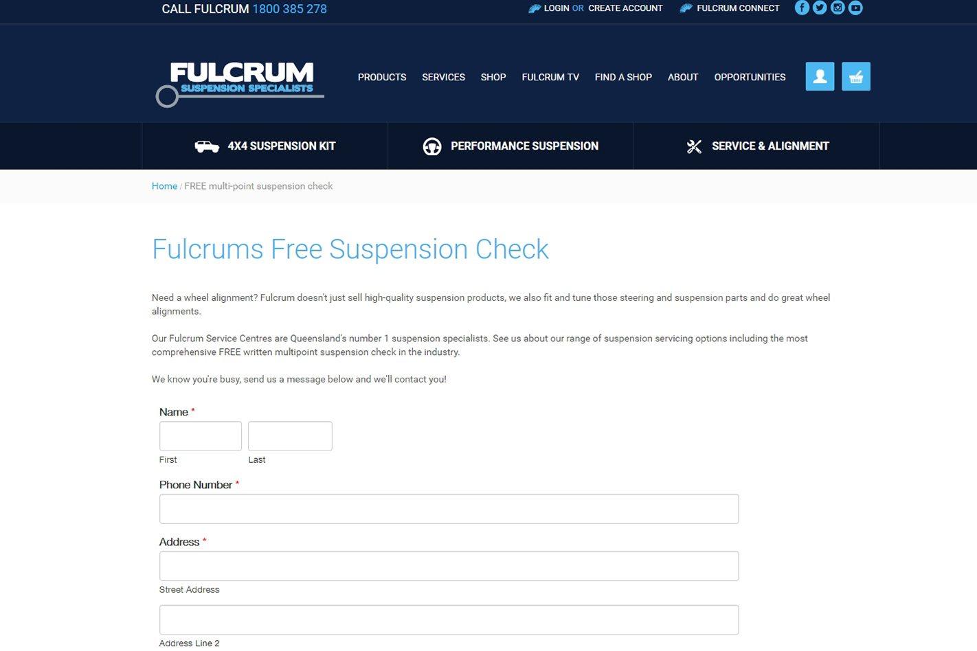 Fulcrum's free suspension check