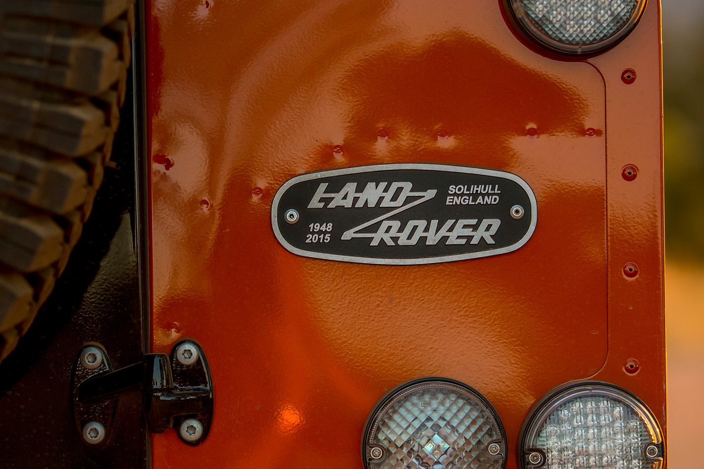 The Land Rover badge