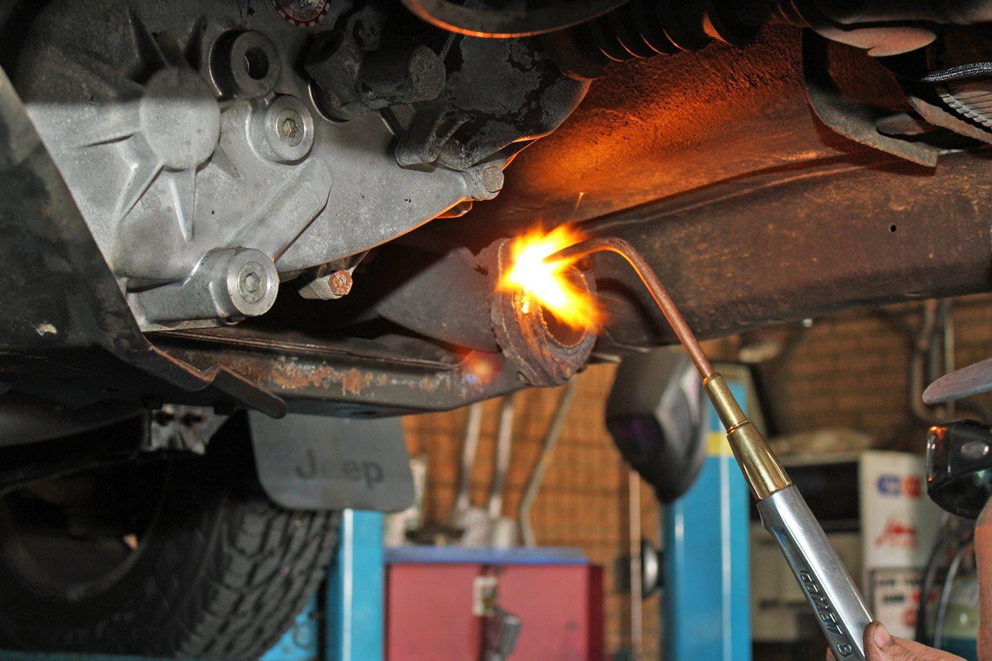 weld exhaust area