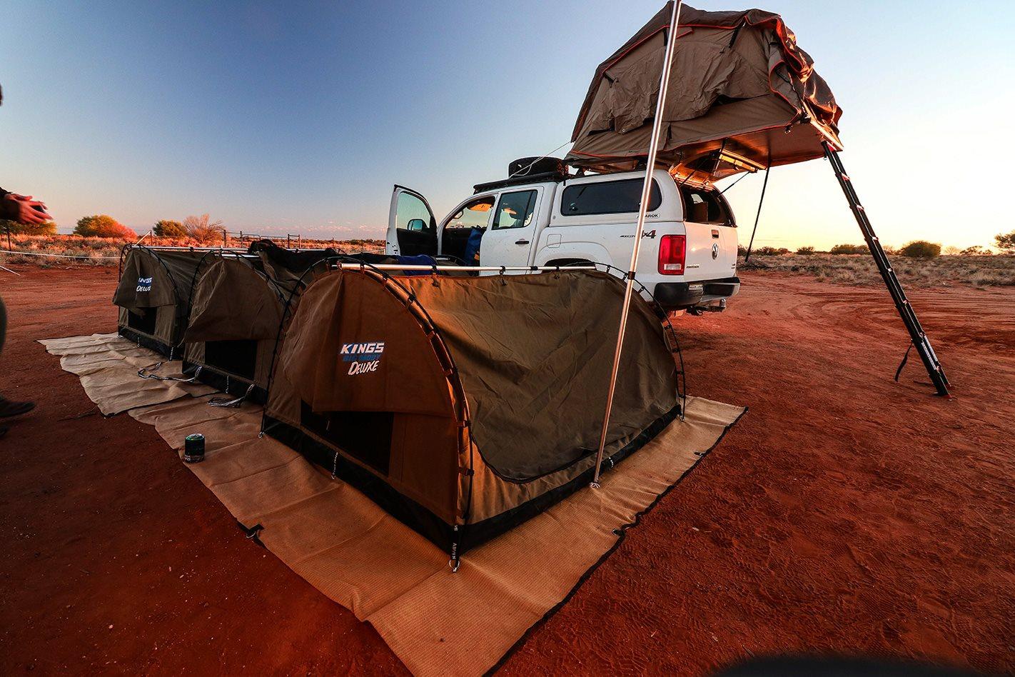 Volkswagen Amarok camping set up