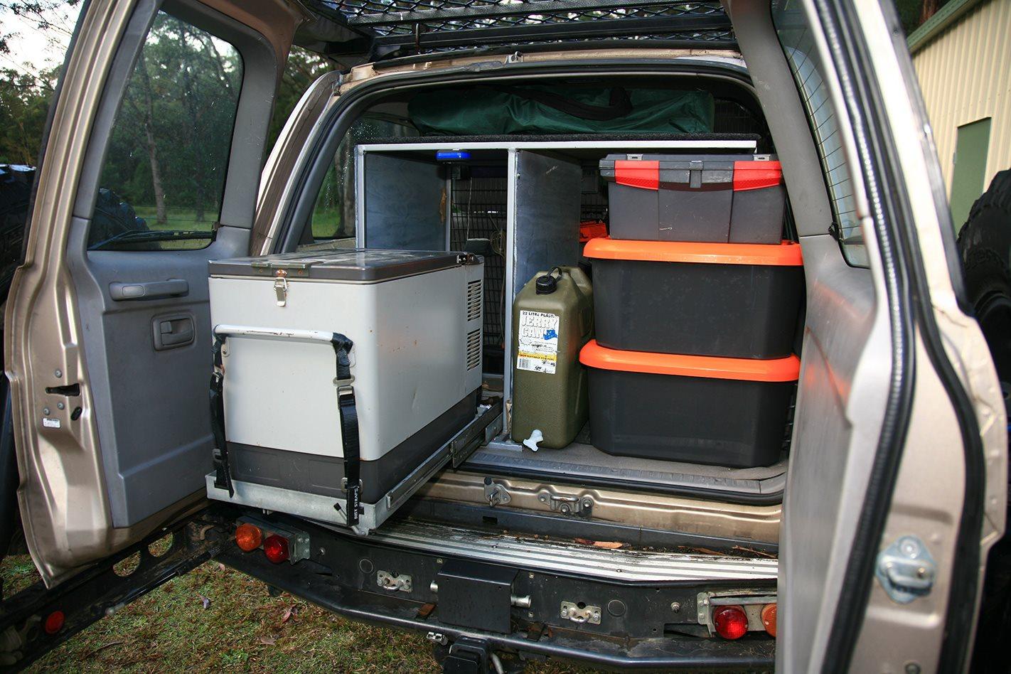 Toyota Land Cruiser 100 Series custom storage