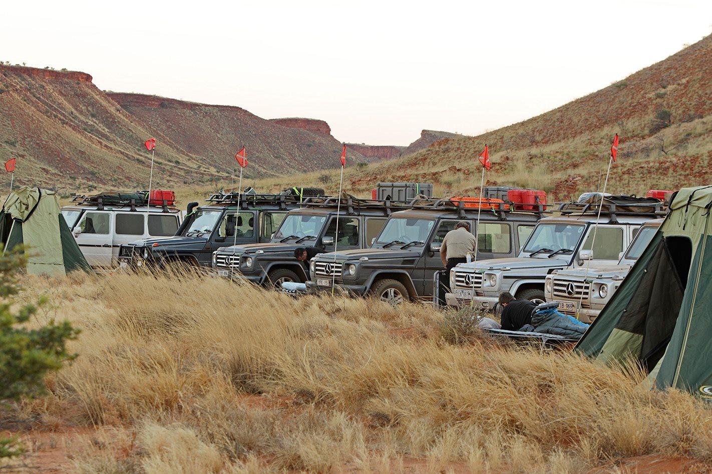 2011 Mercedes-Benz G-Wagen convoy lineup.jpg