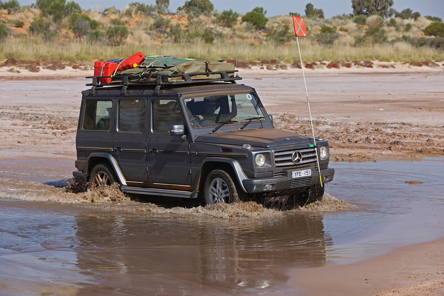Mercedes-Benz G-Wagen river crossing.jpg