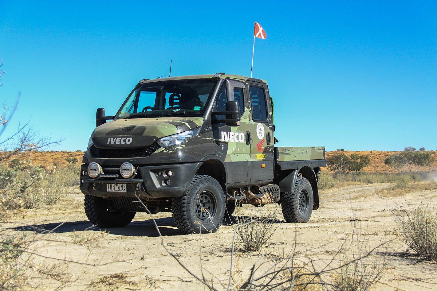 Iveco Daily 4x4 Range Crosses The Simpson Desert