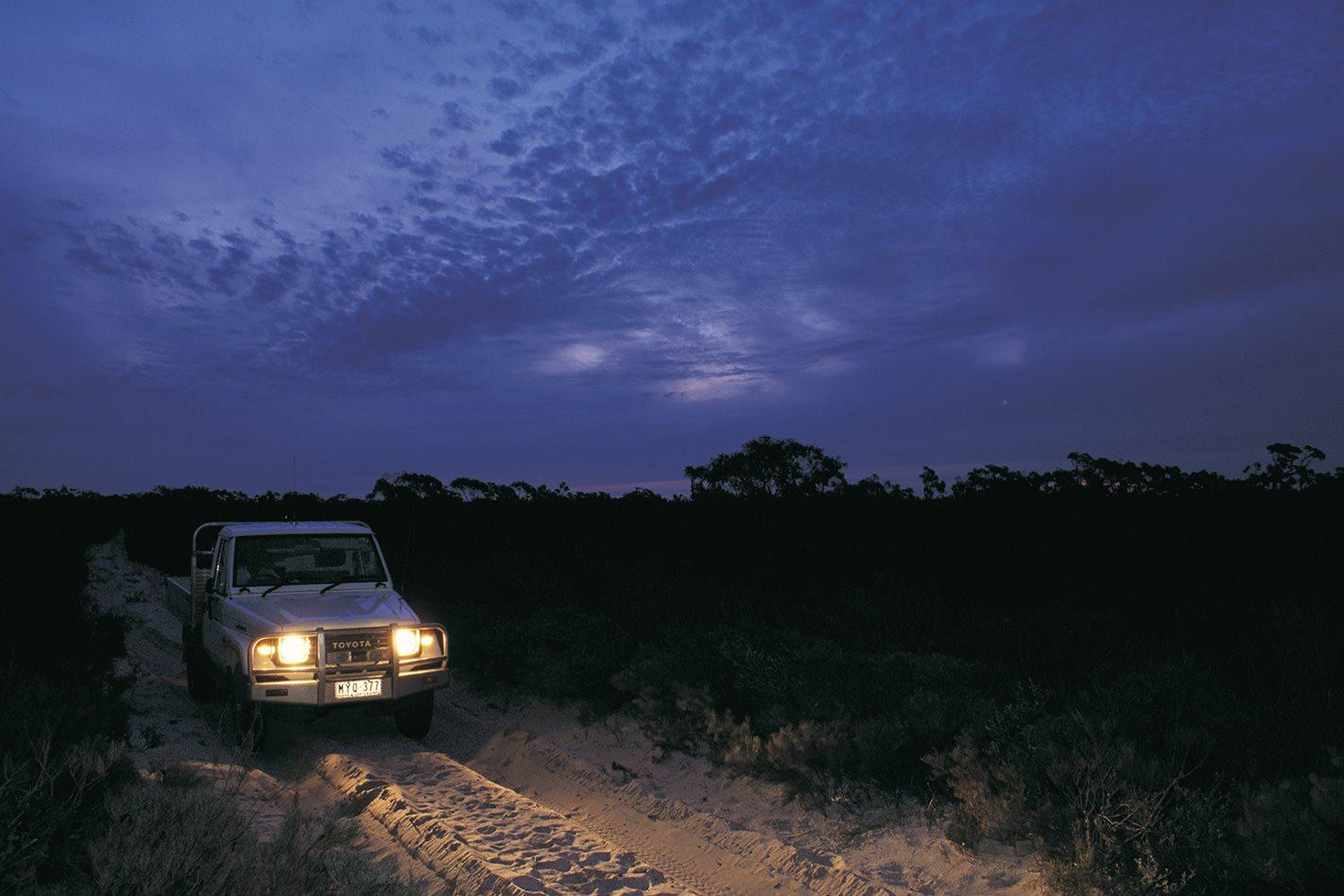 little desert national park night 4x4