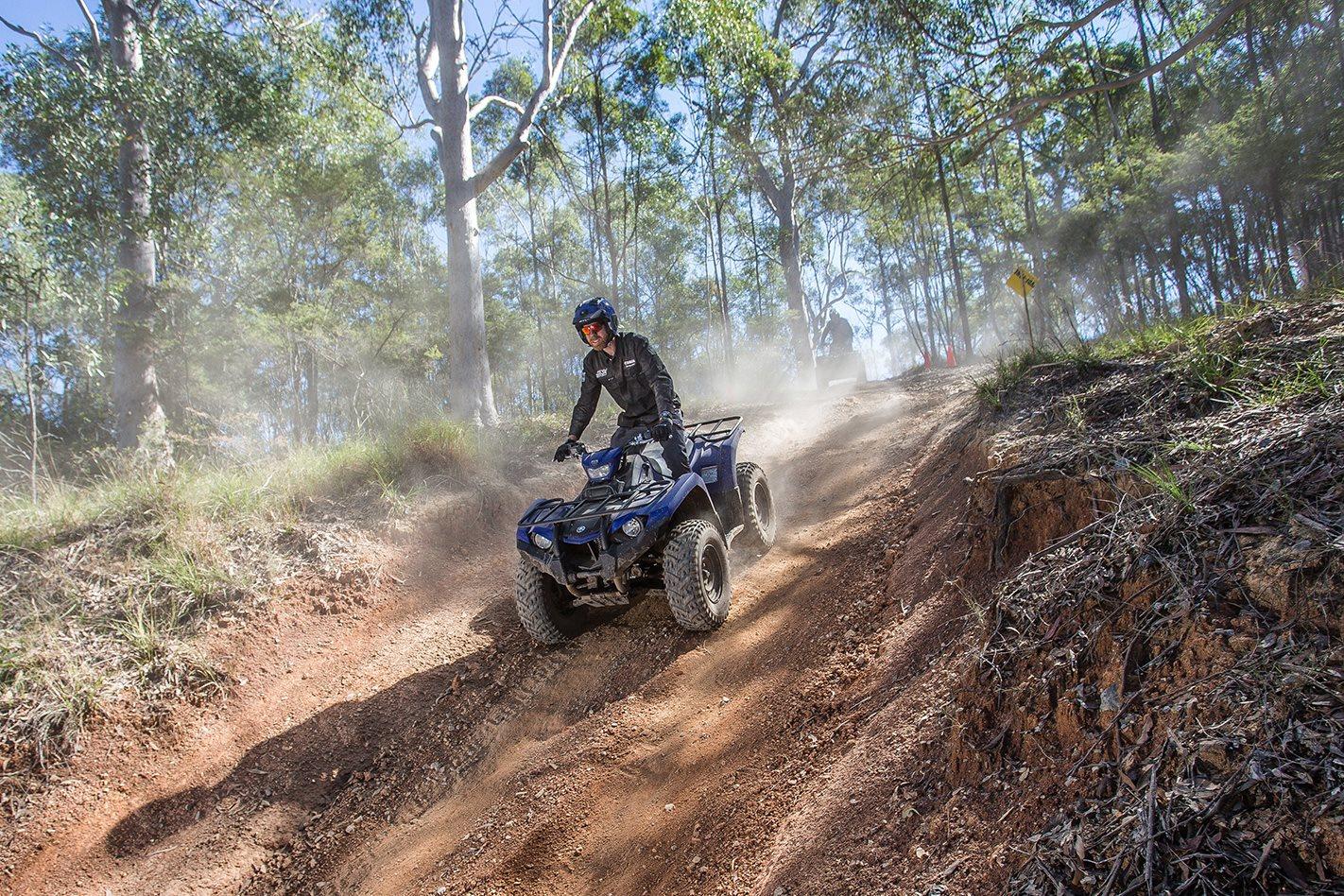 Yamaha Kodiak 450 ATV Quad down hill