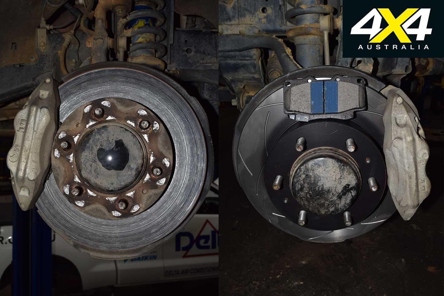 Brake upgrade: Bendix brake pads with DBA slotted disc brakes