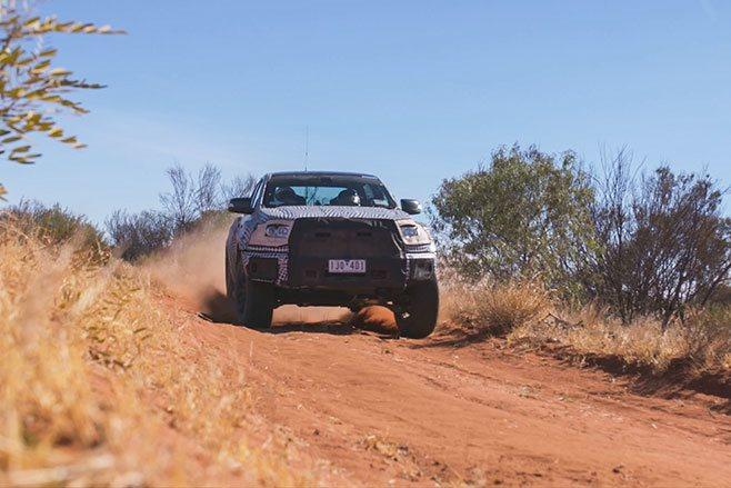 2019 Ford Ranger Raptor dirt track